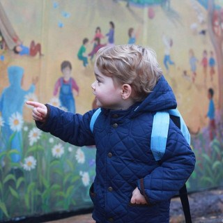 Prince George's First Day At Montessori School