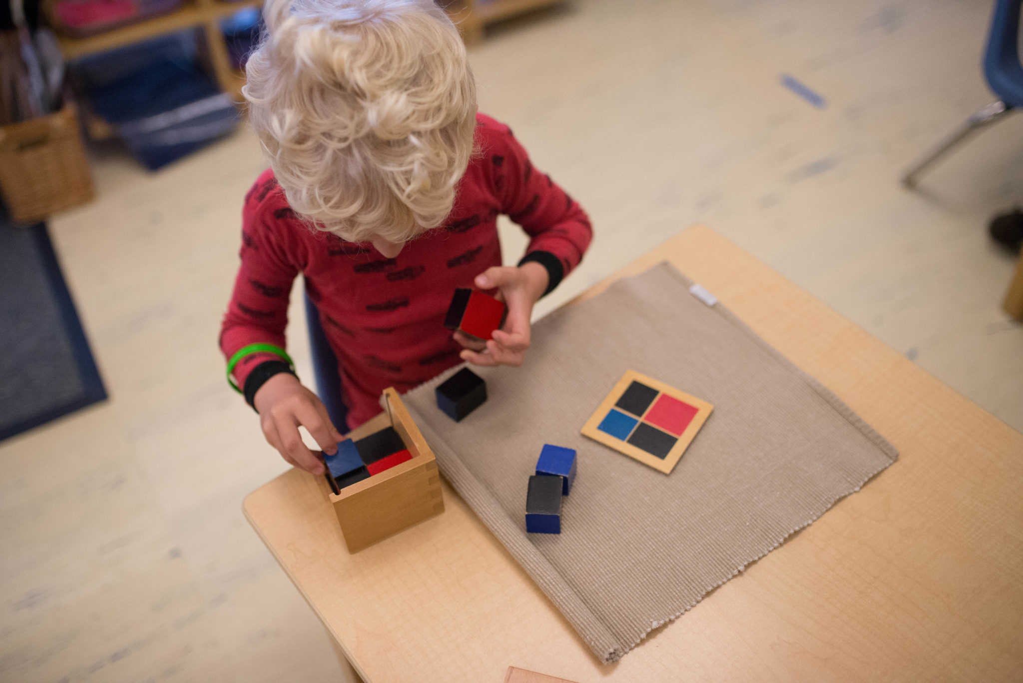 Children's House Montessori Binomial Cube