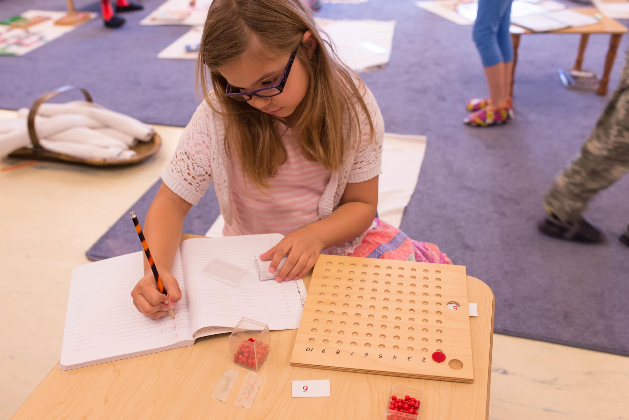 Lower Elementary Montessori Multiplication Board