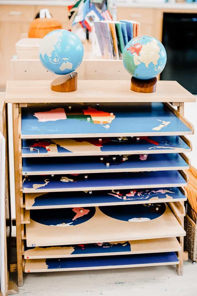 Montessori Map puzzles