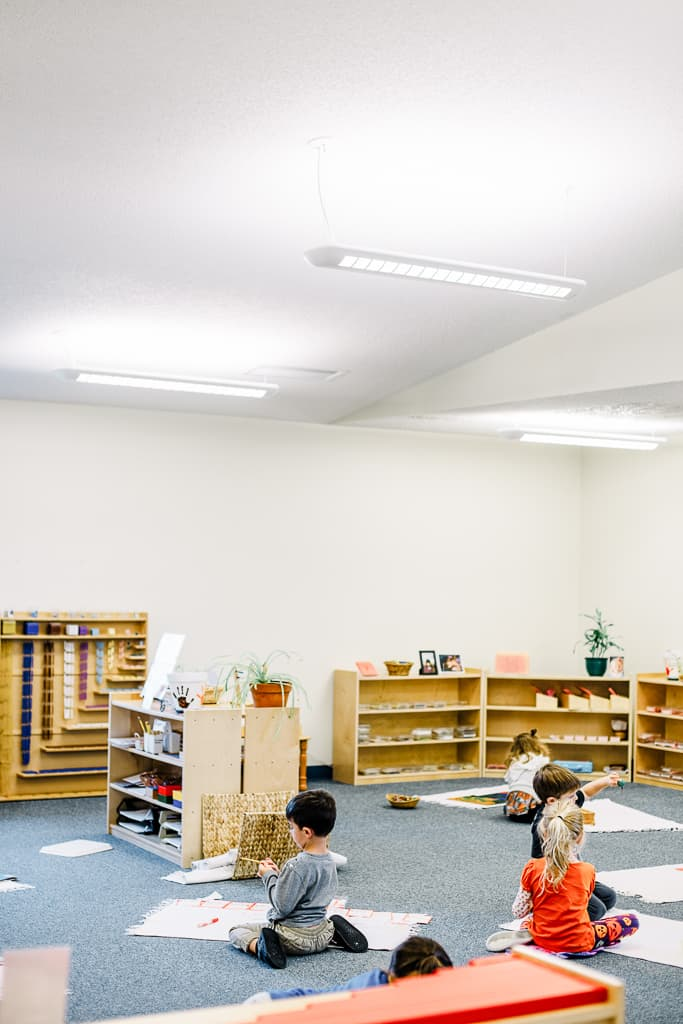 montessori calm classroom in children's house