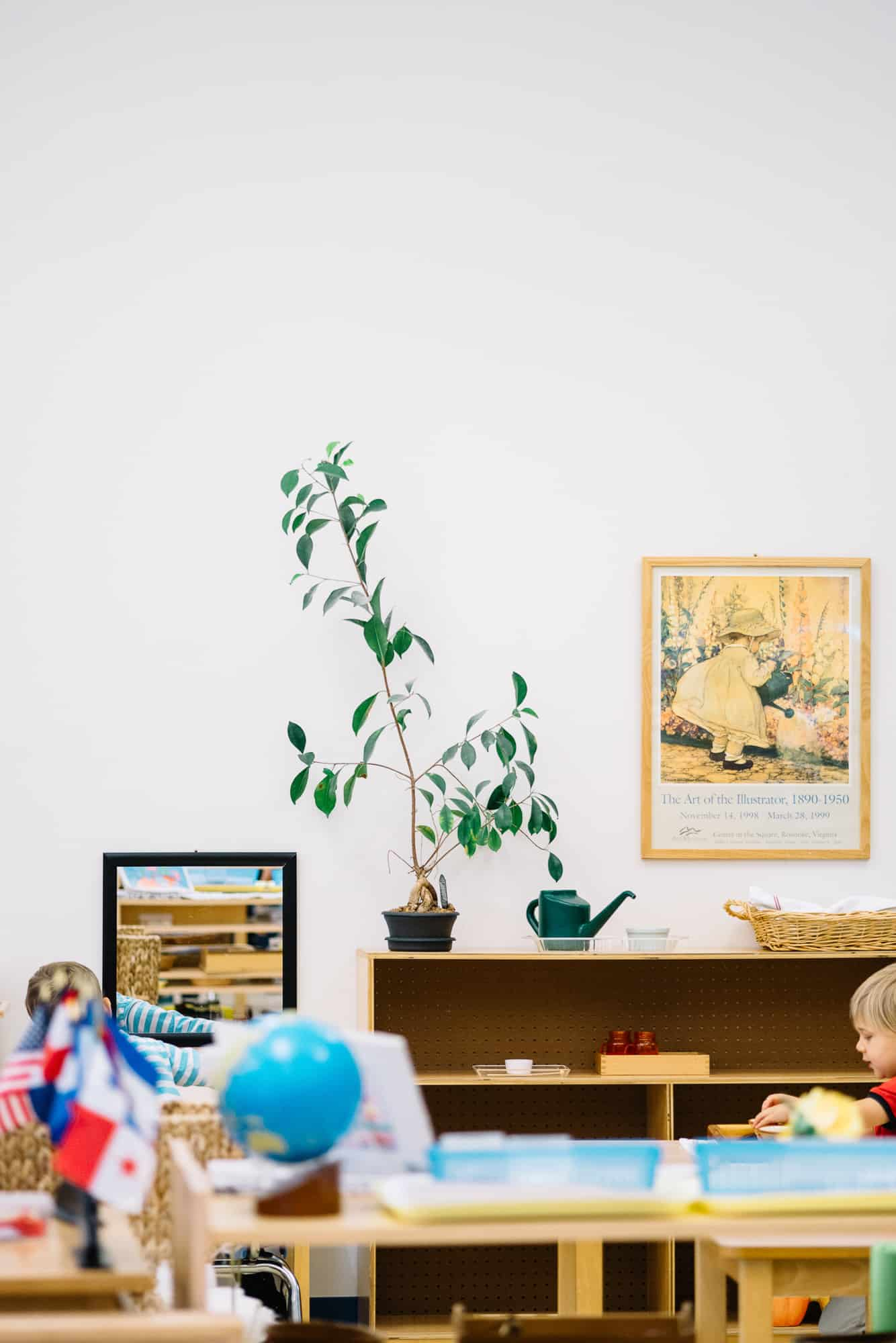 Montessori classroom shelves