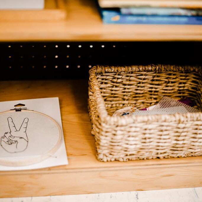 montessori peace shelf